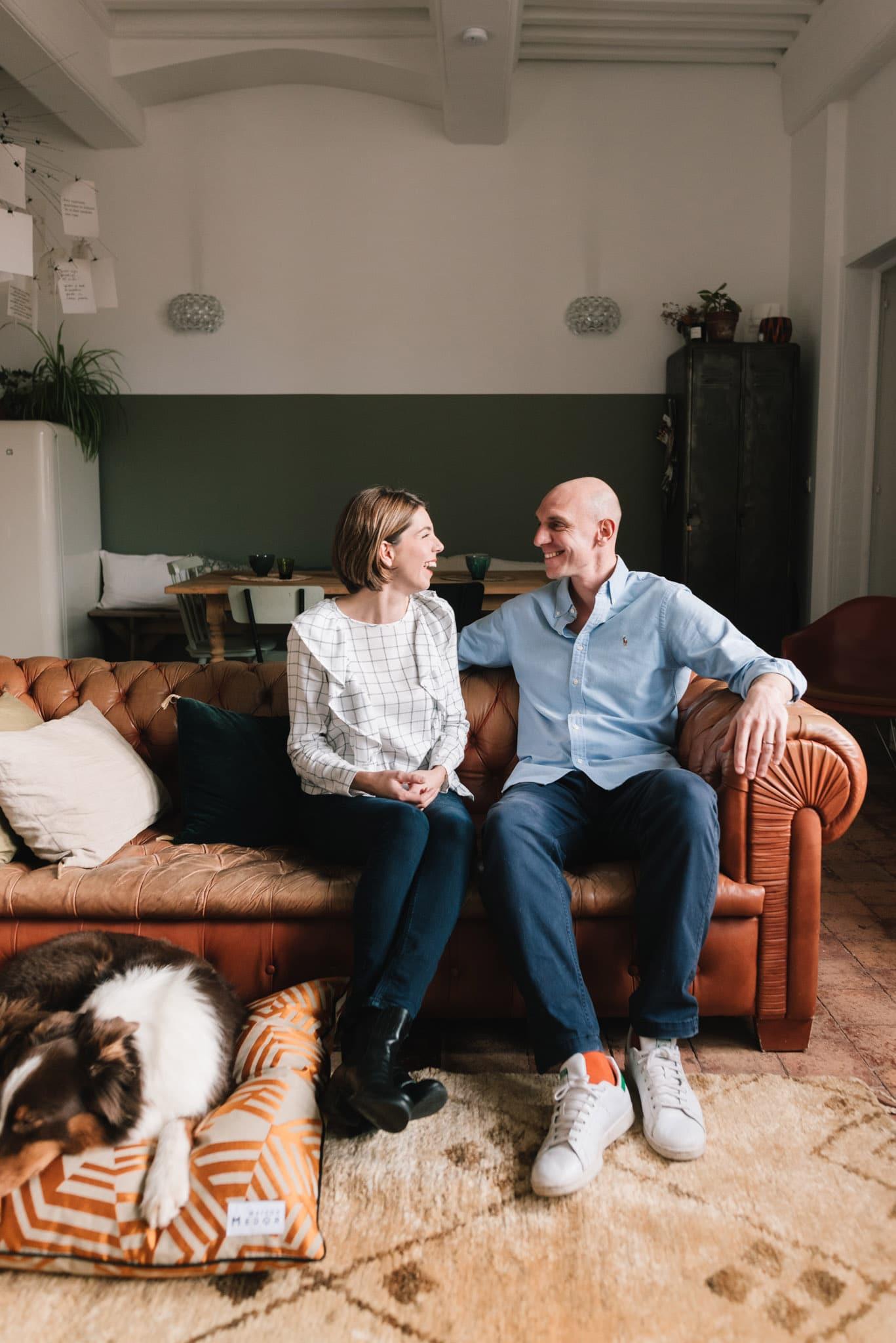 Guilaume et Margot Bott les fondateurs de Maison Medor les coussins et paniers francais pour chien
